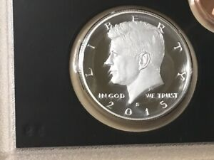 2015 S SILVER GEM PROOF KENNEDY HALF DOLLAR. THIS IS REALLY NICE  HIGH GRADE