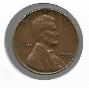 ANTIQUE 1958 US LINCOLN WHEAT PENNY COLLECTION CENT COIN LAST YEAR LOT221