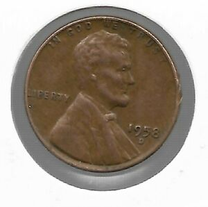 ANTIQUE 1958 US LINCOLN WHEAT PENNY COLLECTION CENT COIN LAST YEAR LOT227
