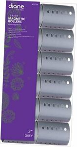 MAGNETIC HAIR ROLLER GREY 2 INCH STRONG MATERIAL 2 INCH  PACK OF 12