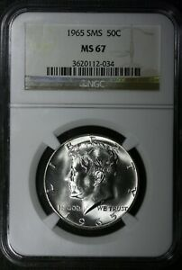 1965 50C KENNEDY HALF DOLLAR NGC MS67 SMS SPECIAL MINT SET