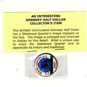 2001 COLORIZED JFK KENNEDY HALF DOLLAR US COIN SC LEGAL TENDER UNCIRCULATED