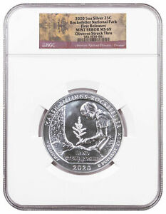 Click now to see the BUY IT NOW Price! 2020 USA SILVER 5 OZ 25 CENTS   ROCKEFELLER PARK   MINT ERROR MS69 FR   NGC COIN