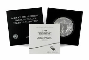 2015 P ATB 25C HOMESTEAD NATIONAL MONUMENT OF AMERICA 5 OZ .999 SILVER COIN OGP