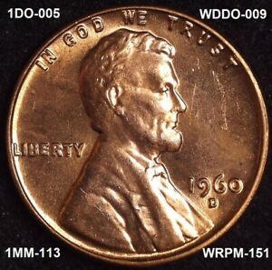 Click now to see the BUY IT NOW Price! 1960 D SD LINCOLN CENT   BU   DUAL VARIETY DDO & DDR   DIE CLASH   NO RIM CUD