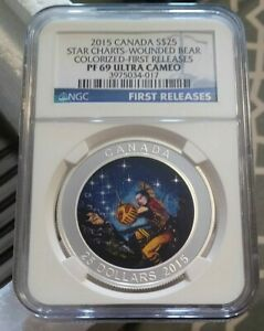 Click now to see the BUY IT NOW Price! 2015 CANADA SILVER STAR CHARTS   WOUNDED BEAR   NGC PF 69 ULTRA CAMEO