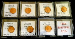 Click now to see the BUY IT NOW Price! COMBO PACK   7 COINS   BU   LINCOLN CENTS FROM 1969   RPMS & DDRS