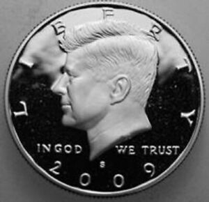 2009 S KENNEDY HALF DOLLAR 90  SILVER PROOF CAMEO NICE NO PROBLEM COIN