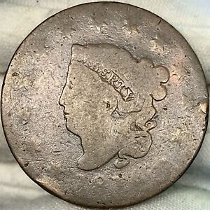 1816 1C MATRON / CORONET HEAD LARGE CENT     GREAT LOOKING EARLY US COPPER