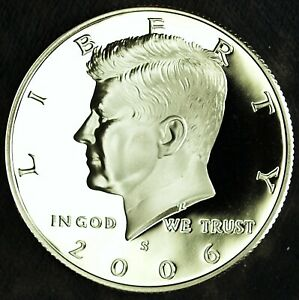 2006 S CLAD PROOF KENNEDY HALF DOLLAR  ULTRA CAMEO  FRESH FROM PROOF SET