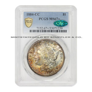 Click now to see the BUY IT NOW Price! 1884 CC $1 SILVER MORGAN DOLLAR PCGS MS67  CAC CERTIFIED CARSON CITY COIN GEM