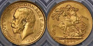 Click now to see the BUY IT NOW Price! 1921 MELBOURNE SOVEREIGN   PCGS MS63