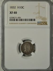 1832 CAPPED BUST HALF DIME NGC XF40