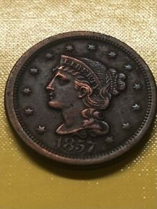 1857 LARGE DATE LARGE CENT