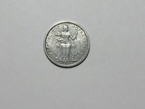 OLD FRENCH POLYNESIA COIN   1965 1 FRANC   CIRCULATED