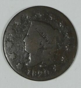 1820 SMALL DATE CORONET HEAD LARGE CENT AG 1C
