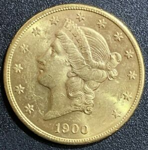 1900 S $20 GOLD DOUBLE EAGLE LIBERTY COIN