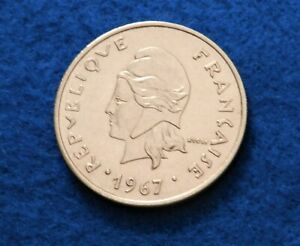 1967 FRENCH POLYNESIAN 20 FRANCS   SUPER COIN   LOW MINT   SEE PICS