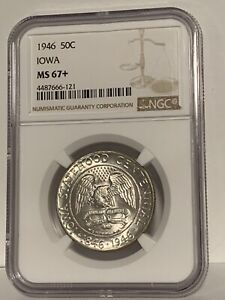 Click now to see the BUY IT NOW Price! IOWA COMMEMORATIVE SILVER HALF DOLLAR 1946 MS67  NGC