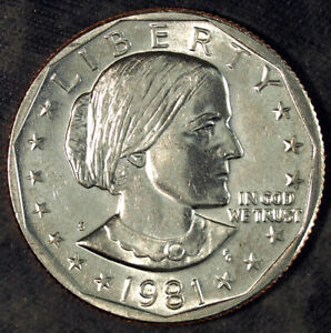 1981 S SUSAN B. ANTHONY DOLLAR  UNCIRCULATED  FRESH FROM MINT SET 131