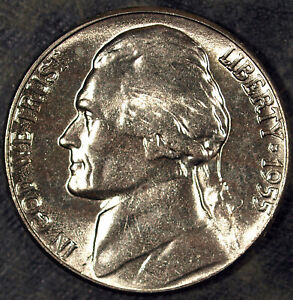 1955 P JEFFERSON NICKEL  UNCIRCULATED  GREAT FOR SETS 472