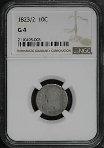 1823/2 CAPPED BUST DIME NGC G 4