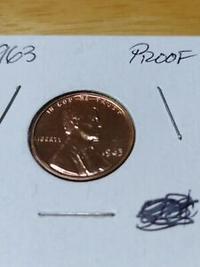 1963 PROOF LINCOLN MEMORIAL CENT