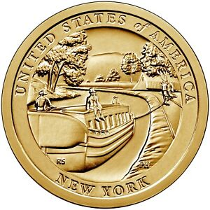 2021 NEW YORK ERIE CANAL AMERICAN INNOVATION DOLLAR P OR D MS 1 COIN PRESALE