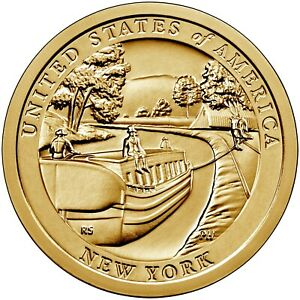 2021 NEW YORK ERIE CANAL AMERICAN INNOVATION DOLLAR PD MS 2 COINS PRESALE
