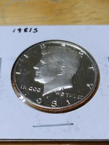 1981 S PROOF JOHN F. KENNEDY HALF DOLLAR WITH SOME HAZING