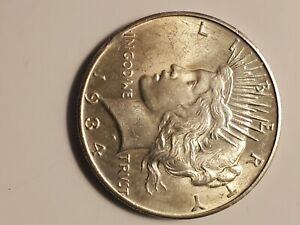 1934 P   PEACE SILVER DOLLAR   FULL AU    UNC BU   FOR OTHERS POSTING