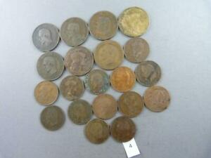 LOT OF 20 REPUBLIC FRANCE NAPOLEON III & LIBERTY 1853 1916 CENTIMES COIN  4
