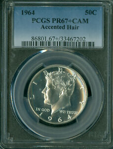 1964 ACCENTED HAIR KENNEDY HALF DOLLAR NGC PR 67   IN THIS GRADE