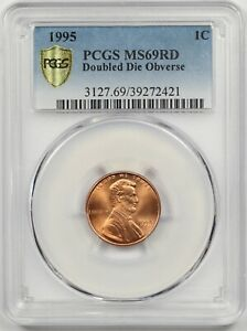 Click now to see the BUY IT NOW Price! 1995 DDO DOUBLED DIE OBVERSE 1C PCGS/GOLD SHIELD MS 69 RD LINCOLN PENNY POP 16/0