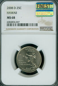 Click now to see the BUY IT NOW Price! 2008 D HAWAII QUARTER NGC MS68 PQ MAC FINEST BUSINESS MAC SPOTLESS .
