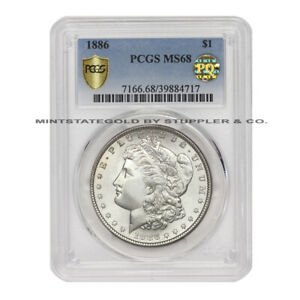 Click now to see the BUY IT NOW Price! 1886 $1 SILVER MORGAN PCGS MS68 PQ APPROVED GEM GRADED PHILADELPHIA DOLLAR COIN