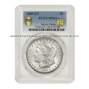 Click now to see the BUY IT NOW Price! 1889 CC $1 SILVER MORGAN DOLLAR PCGS MS63  PQ APPROVED BREEZY PALMS PEDIGREE