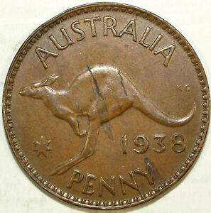 1938 AUSTRALIA  ONE PENNY  CIRCULATED  GREAT SET FILLERS 207