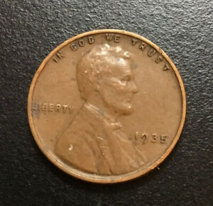 1935 LINCOLN WHEAT CENT COIN 2346 SHIPS FREE
