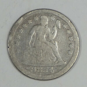 1854 O LIBERTY SEATED DIME WITH ARROWS AT THE DATE GOOD SILVER 10C