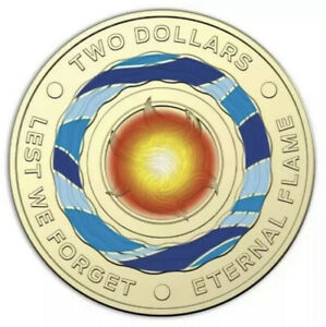 2018 $2 COIN AUSTRALIAN TWO DOLLAR ETERNAL FLAME COIN  LIGHTLY CIRCULATED