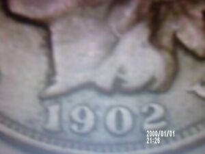 1902 HEAD PENNY NICE  READABLE DATE FOR ALBUM/COLLECTION