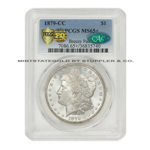 Click now to see the BUY IT NOW Price! 1879 CC $1 SILVER MORGAN DOLLAR PCGS MS65  PQ APPROVED CAC BREEZY PALMS GEM COIN