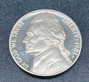 1981 S MINT PROOF JEFFERSON NICKEL 5C COIN FROM US MINT PROOF SET