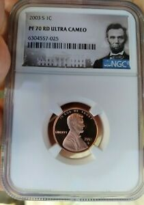 2003 S 1C LINCOLN MEMORIAL CENT PF70 RD ULTRA CAMEO NGC POPULATION 1 017