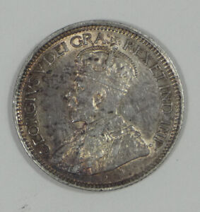 1919 CANADA KING GEORGE V SILVER 10 CENTS ALMOST UNCIRCULATED