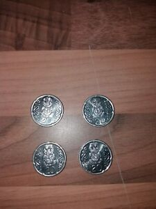4 NEW ZEALAND 20 CENTS COIN 2006 2008