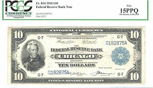 Click now to see the BUY IT NOW Price! 1918 $10  FRBN  CHICAGO 30 KNOWN FR814  PCGS 15