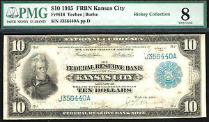 Click now to see the BUY IT NOW Price! 1915 $10  NATIONAL CURRENCY  KANSAS CITY 34 KNOWN FR816  PMG 8