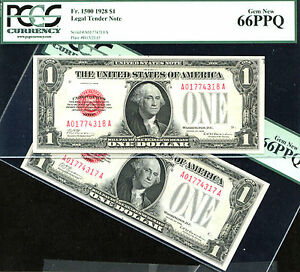 Click now to see the BUY IT NOW Price! 1928 $1 FR 1500  US NOTE 2 CONSECUTIVE   PCGS 66 JUST 62 NOTES IN HIGHER GRADE